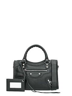 Balenciaga-Clas mini city black leather bag