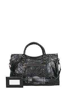 Balenciaga-Giant 12 city  black leather bag