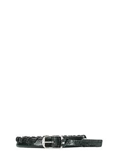 Balenciaga-Giant round black leather belt