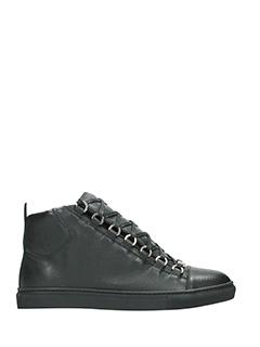 Balenciaga-Sneakers Arena High  in pelle nera