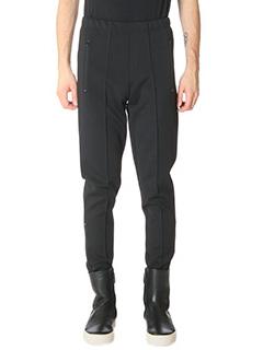 Balenciaga-Pantaloni in tesuto tecnico nero
