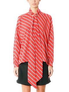 Balenciaga-red polyester shirt