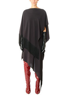Balenciaga-black viscose dress