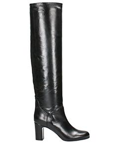 L'Autre Chose-black leather boots
