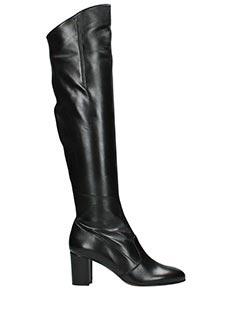 L'Autre Chose-Stivali in pelle nera