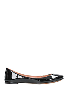 L'Autre Chose-black leather ballet flats