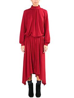 Golden Goose Deluxe Brand-Vestito Gabi in cr�pe rossa