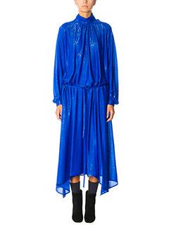 Golden Goose Deluxe Brand-Vestito Gabi in tessuto lam� blue