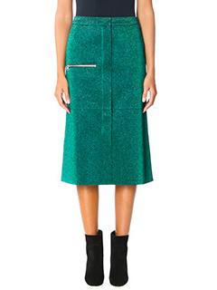 Golden Goose Deluxe Brand-Leslie green polyester skirt
