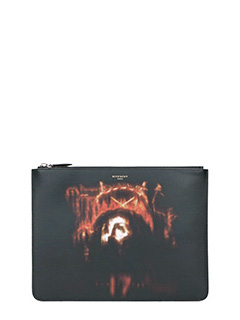 Givenchy-Pochette Jesus  Large in pelle nera