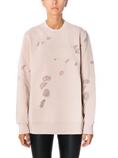 Givenchy-Felpa Logo in cotone rosa
