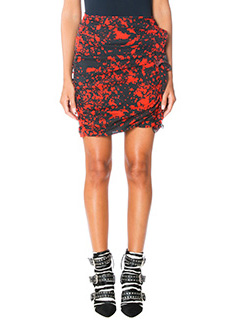 Isabel Marant-Ipso red silk skirt