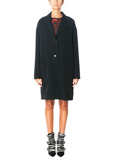 Isabel Marant-Cappotto Jagger in lana nera