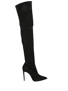 Casadei-Blade black suede boots