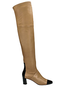 Casadei-leather color leather boots