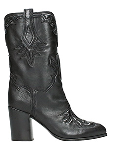 Casadei-black leather boots
