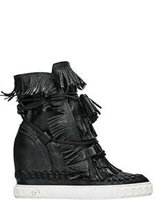 Casadei-Sneakers in pelle nera