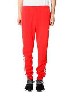Adidas-Pantaloni in cotone rosso