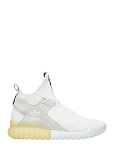 Adidas-Sneakers Tubular  X Pk in pelle e nylon bianco