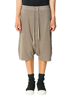 Rick Owens DRKSHDW-Bermuda Pods in cotone  taupe