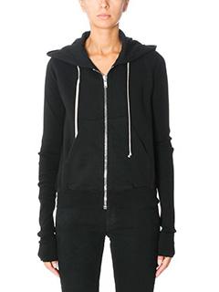 Rick Owens DRKSHDW-Reg hoodie black cotton sweatshirt