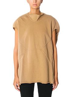Rick Owens DRKSHDW-Naska floating leather color cotton sweatshirt