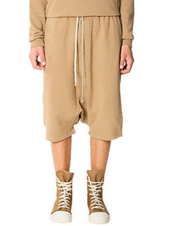 Rick Owens DRKSHDW-Bermuda Pods in cotone cammello