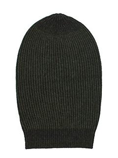 Rick Owens-Cappello Big Hat in lana dark dust