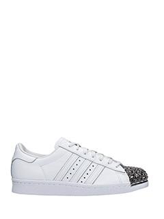 Adidas-Sneakers Superstar 80 S M in pelle bianca