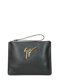 Giuseppe Zanotti-Margery black leather clutch