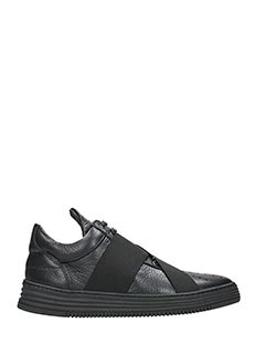 Filling Pieces-Sneakers Low Top in pelle crossover  nera