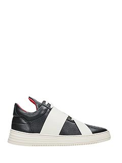 Filling Pieces-Sneakers Low Top in pelle nera