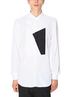 Neil Barrett-Camicia in cotone bianco