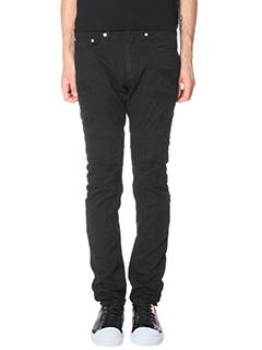 Neil Barrett-Jeans Skinny Biker in cotone nero-cuciture