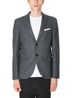 Neil Barrett-Giacca in lana grigia