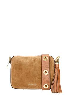 Michael Kors-Borsa Brooklyn LG Camera Bag in suede cuoio