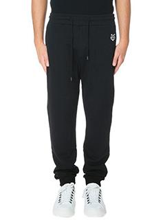 Kenzo-Pantaloni Tiger Jogpant in cotone nero
