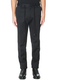 Kenzo-Pantaloni in lana nera