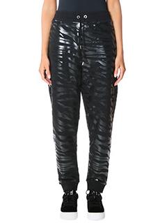 Kenzo-Iridescent tige black cotton pants