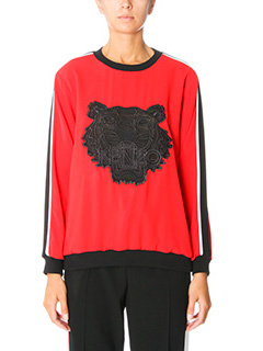 Kenzo-Athletic tiger red viscose sweatshirt