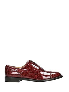 Marc Jacobs-Stringate Clinton Oxford in vernice glitter bordeaux