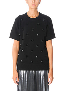 Marc Jacobs-T-Shirt Crewneck Sweatshirt in lana nera