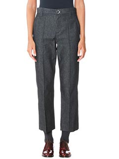 Marc Jacobs-Pantaloni Cropped Bowie in lana grigia