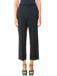 Marc Jacobs-Pantaloni Cropped Bowie in lana nera