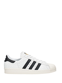 Adidas-Sneakers Superstar 80 S W in pelle bianca nera