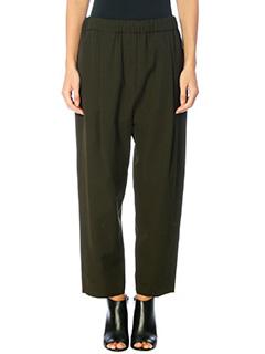 Damir Doma-Pantaloni Poe in cotone verde