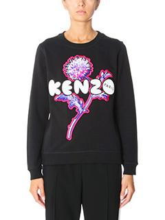 Kenzo-Felpa Dandelios Sweat in cotone nero