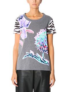 Kenzo-T-Shirt Dandelios in cotone grigio