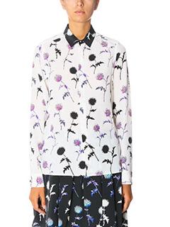 Kenzo-Dandelion blous white silk shirt