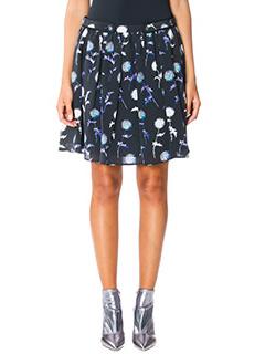 Kenzo-Dandelion skirt black silk skirt
